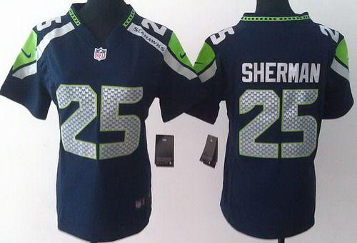 Buy Women Nike Seattle Seahawks 25 Richard Sherman Blue NFL Jerseys  Clearance 8529c0450