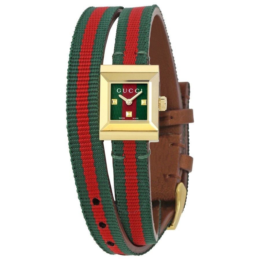 Gucci GFrame Red and Green Dial Ladies Watch YA128527 in