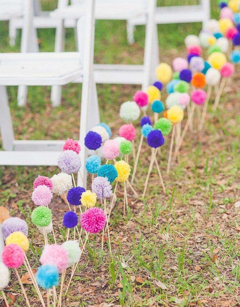 Color explodes from Kimber & Kaylee's boho wedding | Offbeat Bride