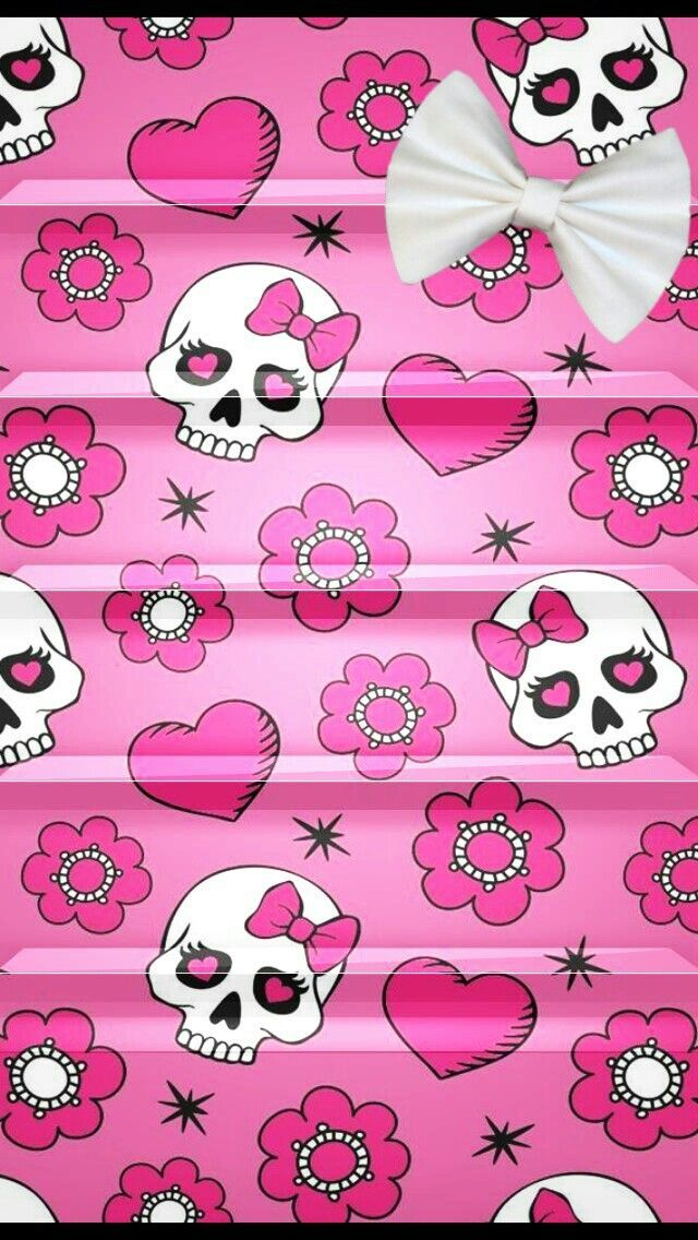 Girly Skull Shelf Sugar Skull Wallpaper Skull Wallpaper