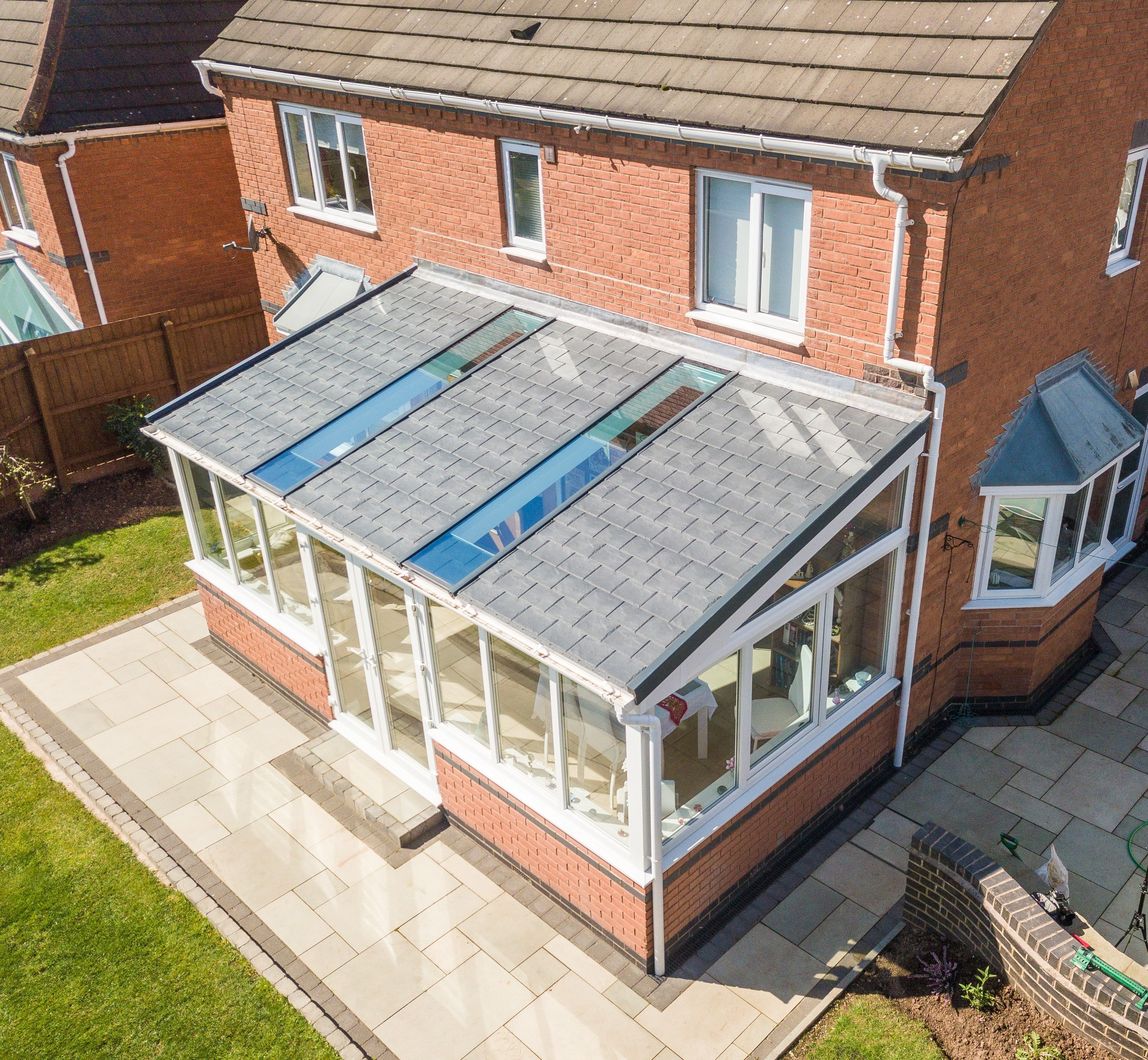 Lean To Garden Room Garden Room Gardenroom This Stunning Ultraroof Lean To Incorporates Ful In 2020 Tiled Conservatory Roof Conservatory Roof House Extension Design