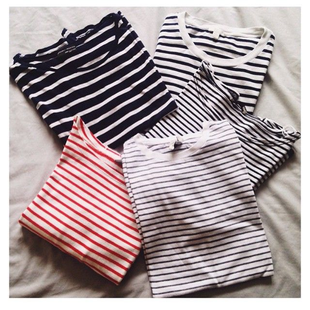 There's no such thing as too many striped tees.