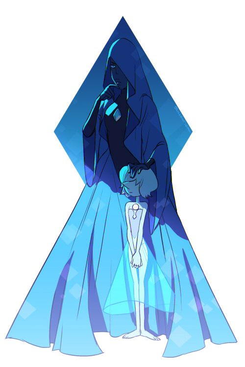 Blue diamond and her pearl disegni universo steven universe e