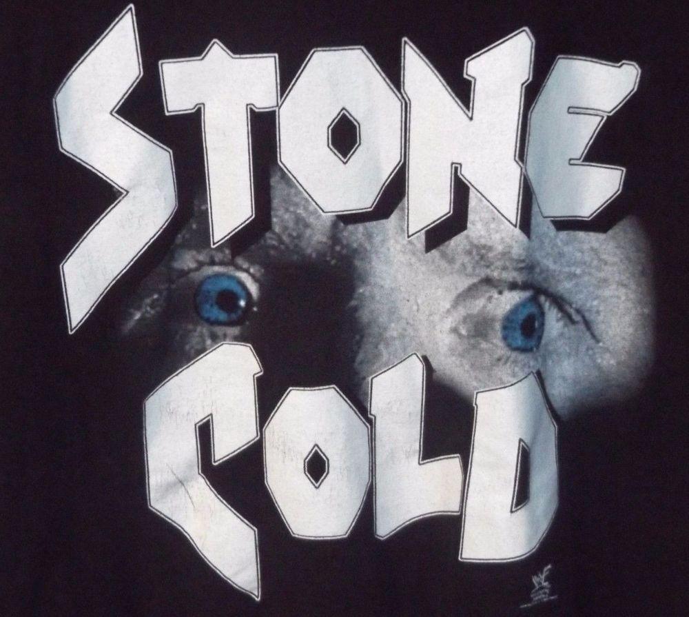 02dd18e095dc6 Stone Cold Steve Austin Crazy Eyes Men s Black Shirt XXL WWE WWF WHOOP ASS  VTG