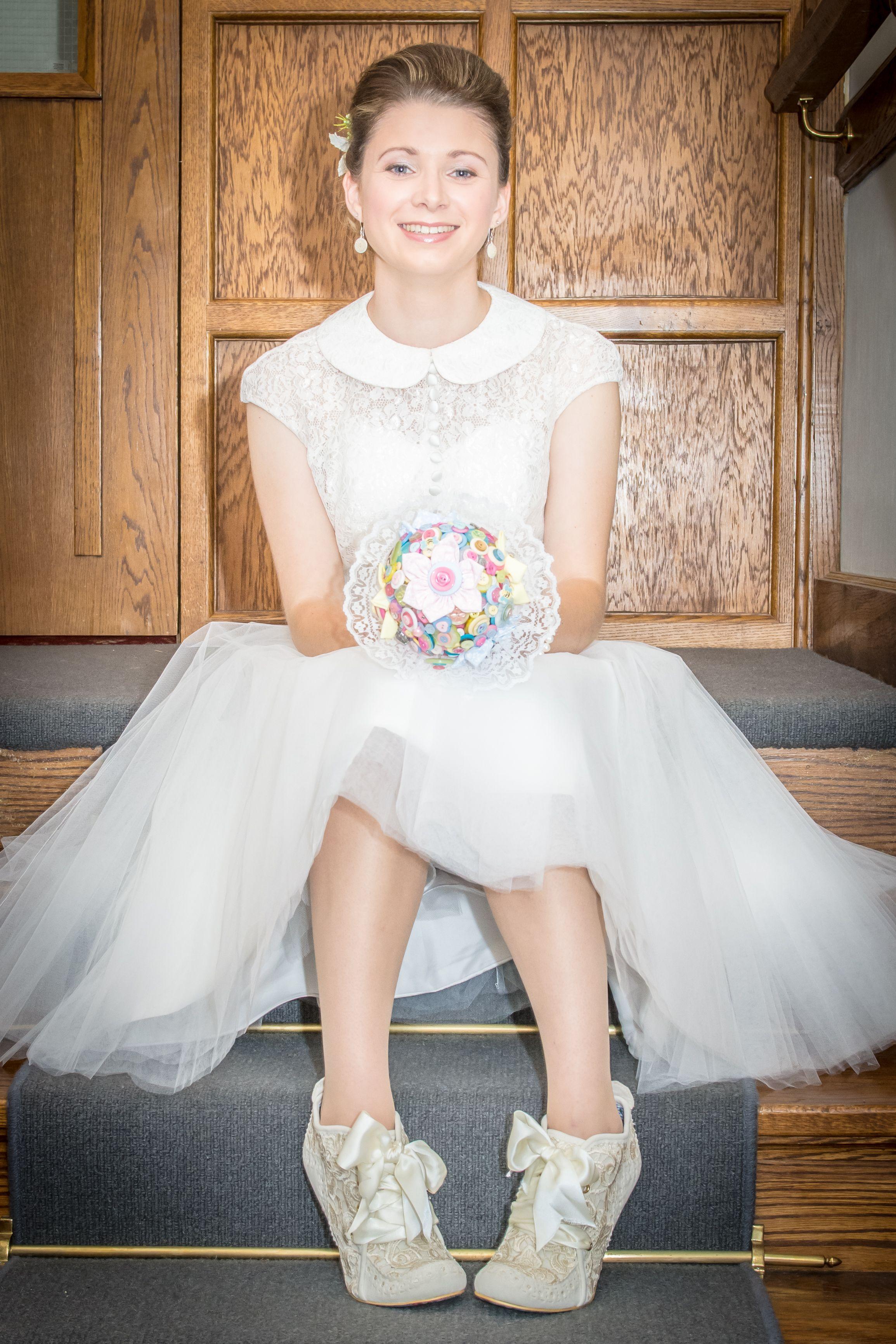 Preloved pronovias wedding dresses  Gorgeous Kitty u Dulcie bride Aimie wearing our uCrazy For You