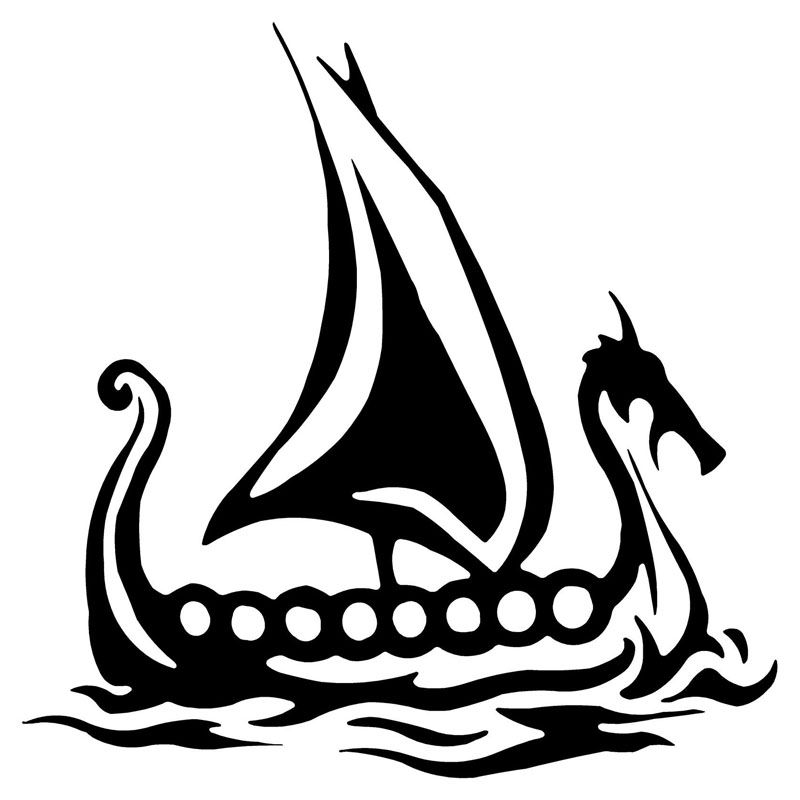 Wholesale PcspcsCM Viking Ship Vinyl Decal Car - Vinyl stickers on cars