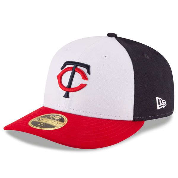 promo code 7aaca 39572 ... coupon code for minnesota twins new era front n center low profile  59fifty fitted hat white