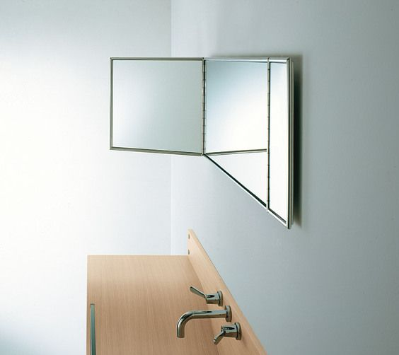 Gallery One Agape Gabbiano mirror by Giuseppe Pasquali agapedesign Rectangular mirror with stainless steel frame
