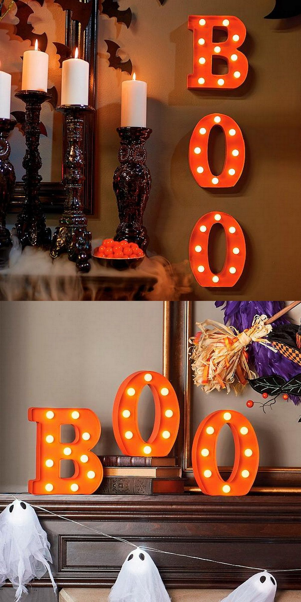 Battery Operated Halloween Marquee Letters Changing Seasons
