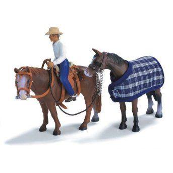 Schleich Western Riding Set $14.77 #western #horses #schleich #animals #figures #kidstoys #collectible