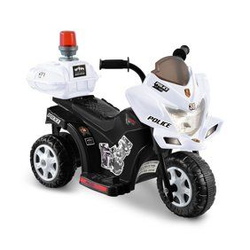 Kid Motorz Police Motorcycle 12-Volt Battery-Powered Ride-On, White - Walmart.com