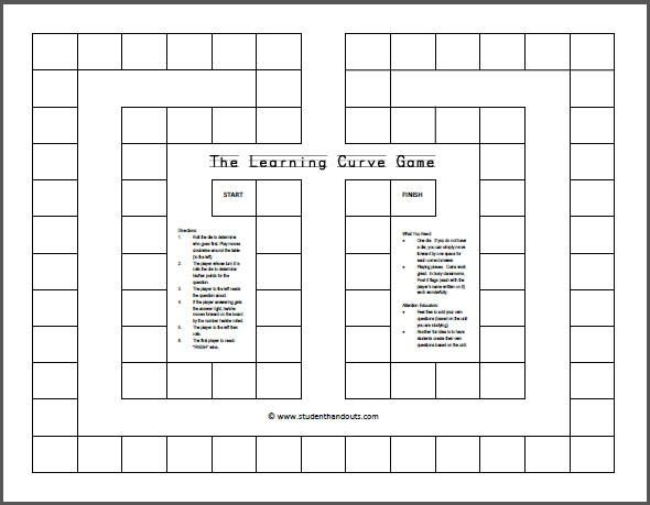The Learning Curve Game - blank printable resume