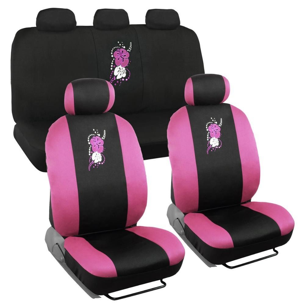 Bdk hawaiian design car seat covers full set universal fit pink bdk hawaiian design car seat covers full set izmirmasajfo