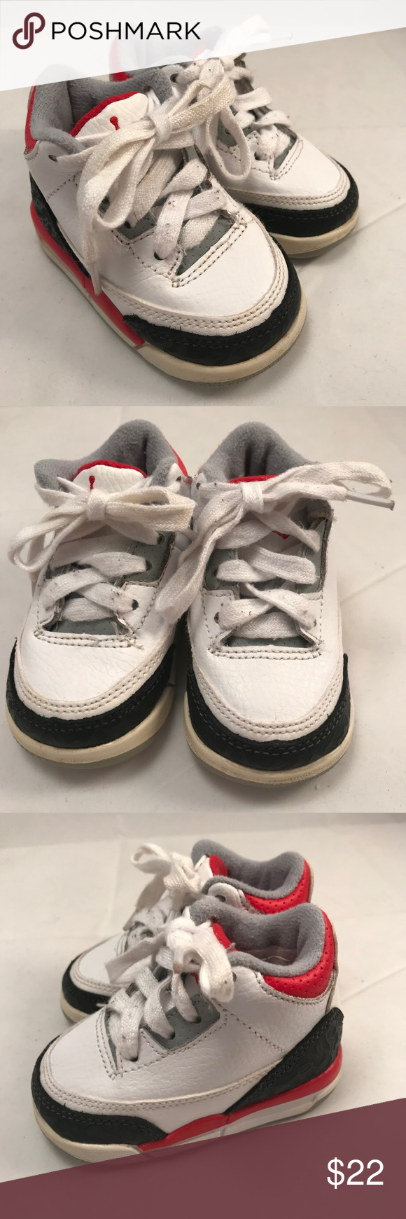 2d14b63f38fe Nike Air Jordan III 832033-120 White Retro NIKE Toddler Air Jordan Retro  Excellent Condition 3C Nike Shoes Baby   Walker