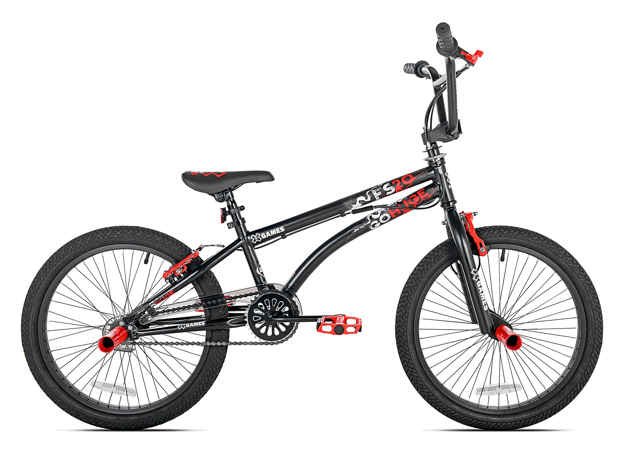 Xgames Fs20 Bmx Freestyle Bicycle 20inch Black Red See This Great Product It Is Amazon Affiliate Link Kidsgameideas Bmx Bikes Bmx Freestyle Bmx