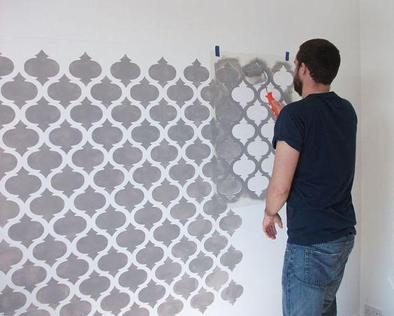 Moroccan Quatrefoil pattern stencil, decor stencil, painting stencil ...