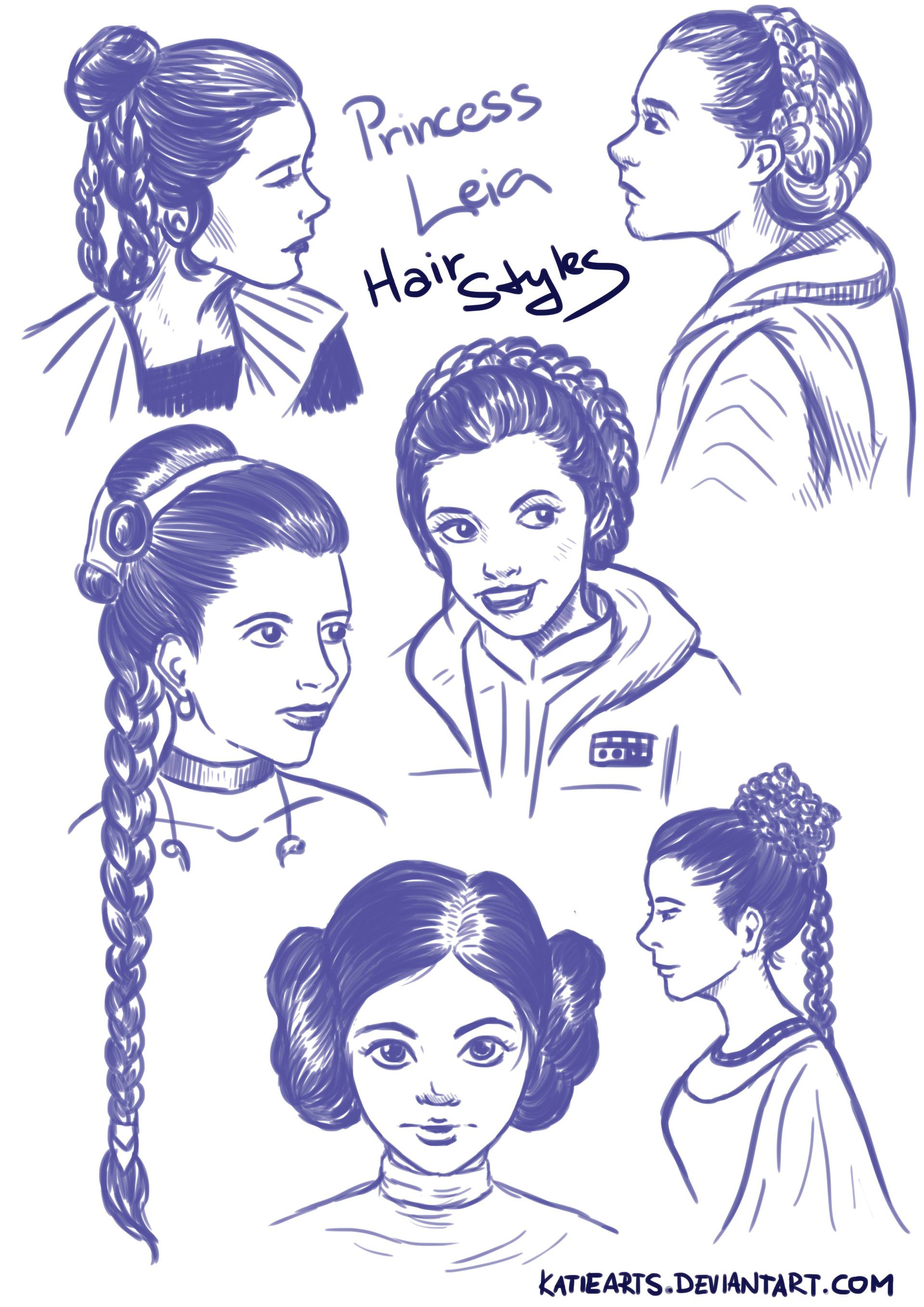 artstation - princess leia hairstyles