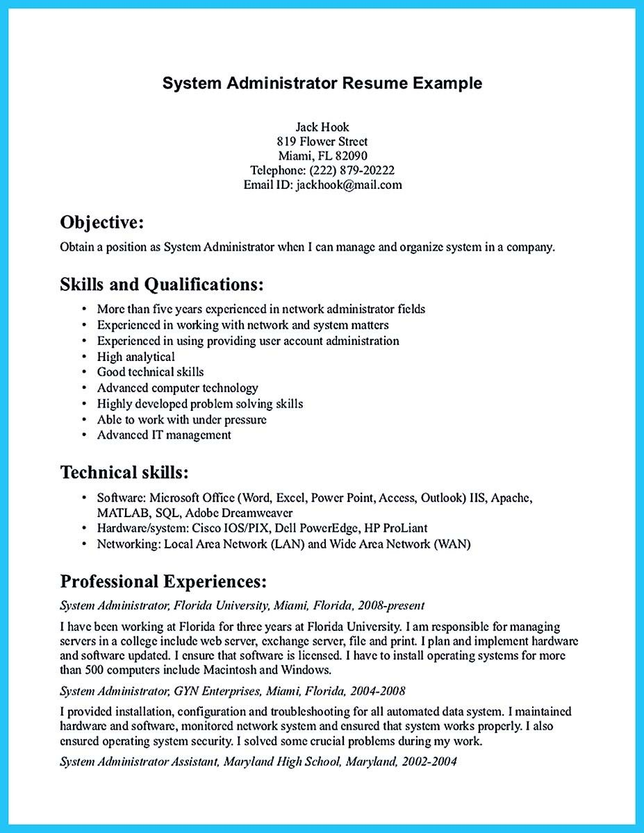 awesome attract your employer with defined administrator resume