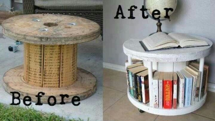 Unique Bookshelf - Great way to recycle