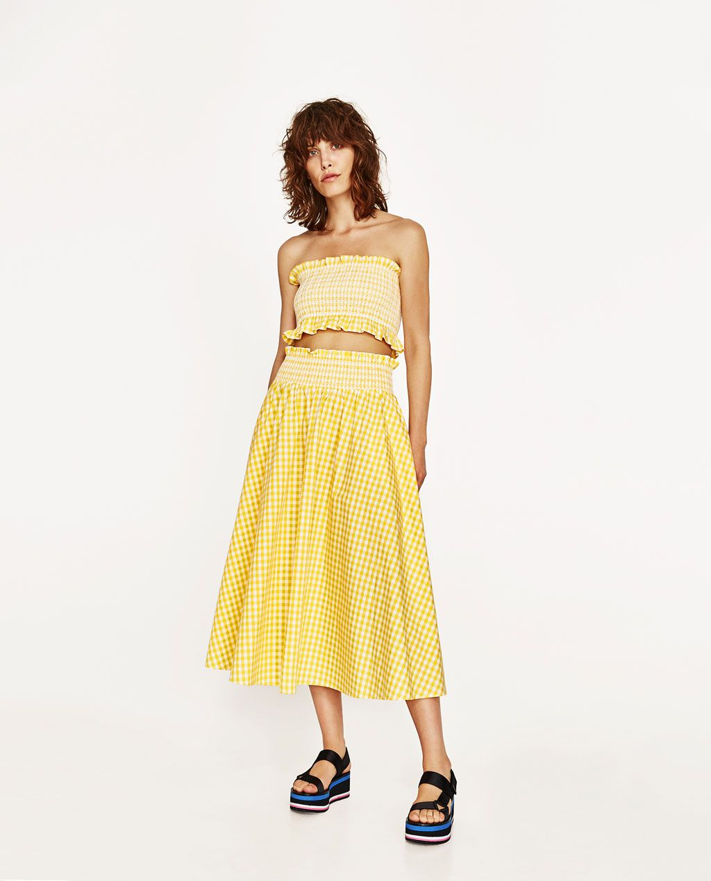 20ff33b16 GINGHAM CHECK SKIRT AND TOP-View All-SKIRTS-WOMAN | ZARA United States