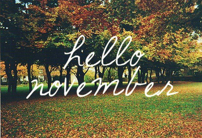November 2013 I Like The Idea Of Sending A Proper Welcome To The Month. Be  Good To Me Please November.