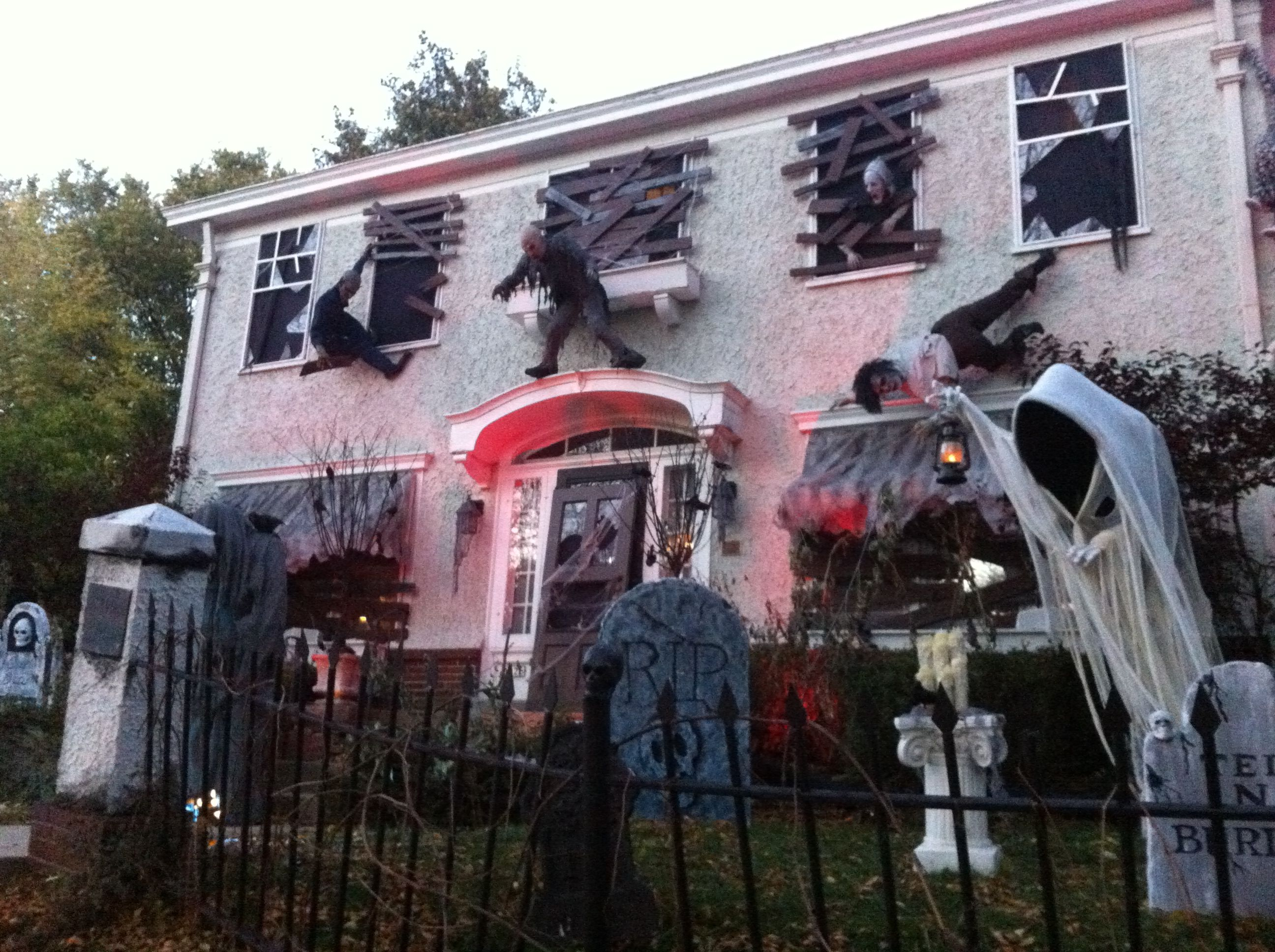 every halloween one home in the washington highlands neighborhood of wauwatosa stands out as a halloween house decorationsyard