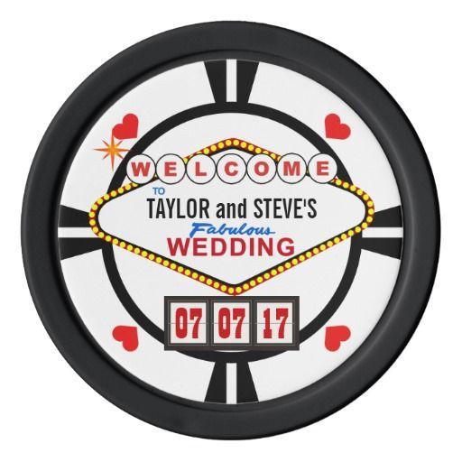 Wedding In Vegas Casino Favor Poker Chips Poker Chip Wedding