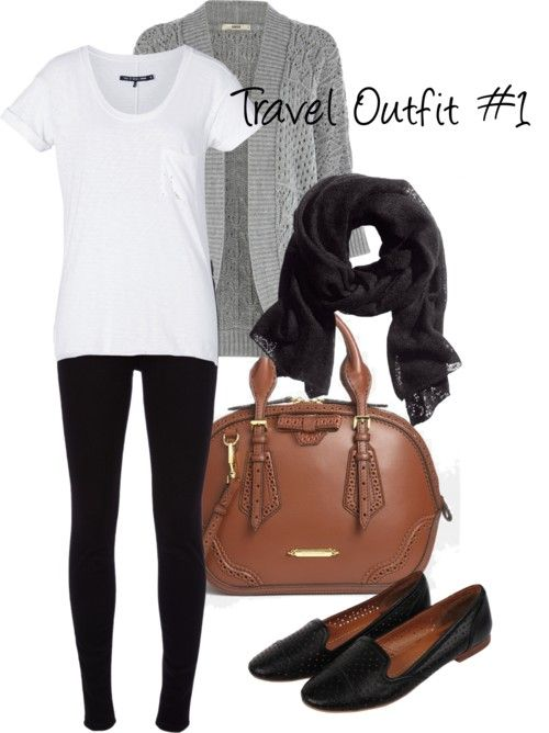 Travel Outfit #1 Cute and Comfy for traveling;-) minus the shoes and purse | Fashion | Pinterest ...
