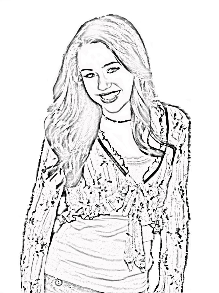 hannah montana coloring pages # 24