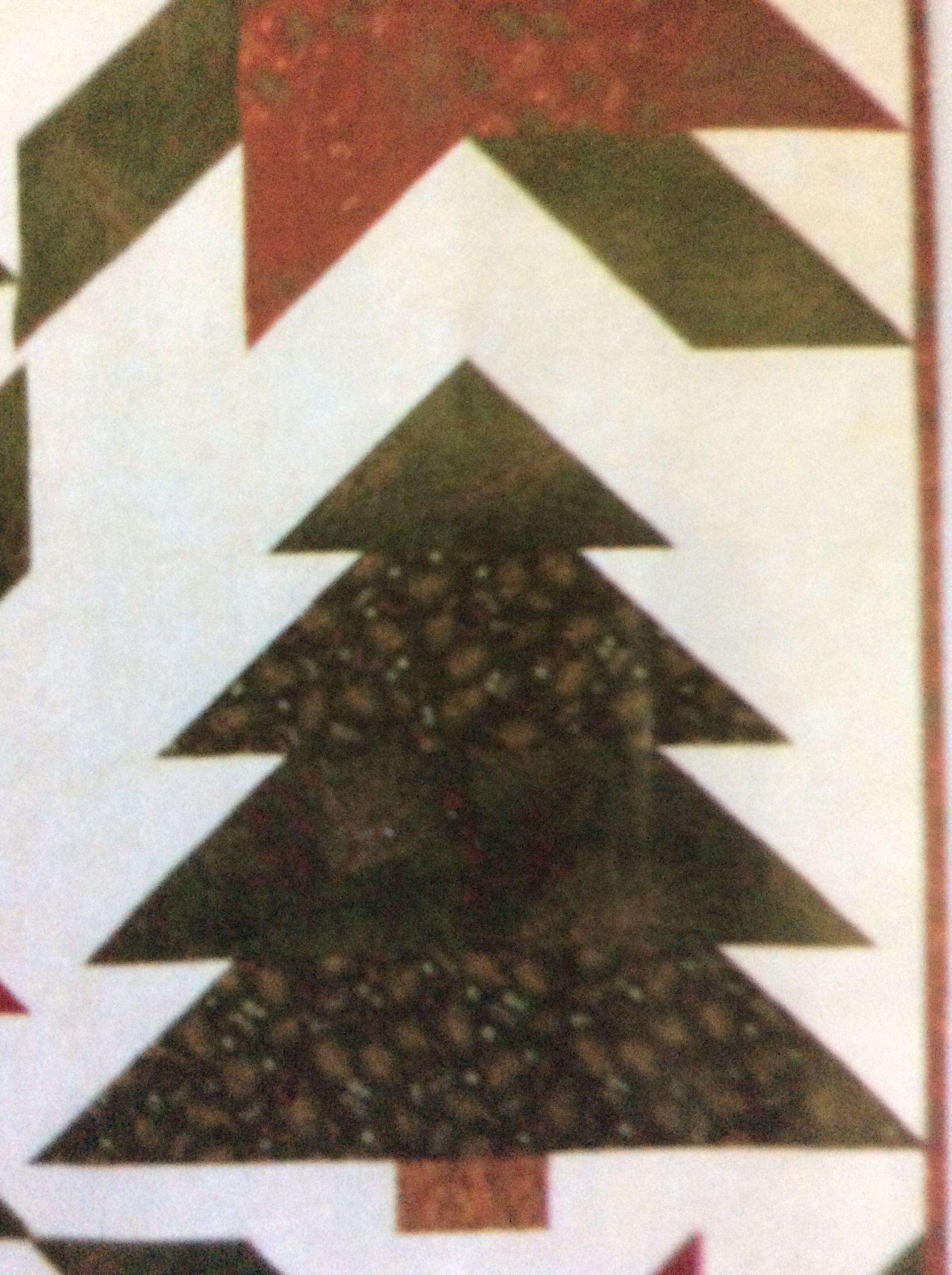 Christmas Tree individual block, from Keepsake Quilting.