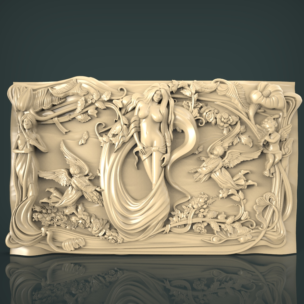 3D STL Model for CNC and 3d Printer BasRelief (1117) in