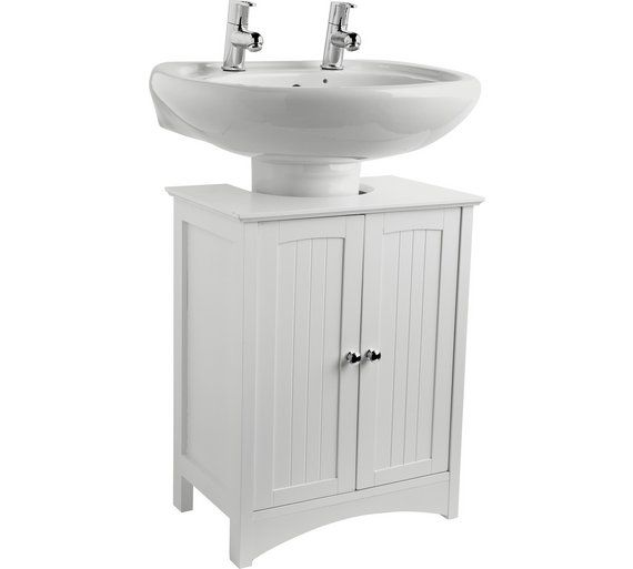 Home Tongue And Groove Under Sink Storage Unit White At Argos Co