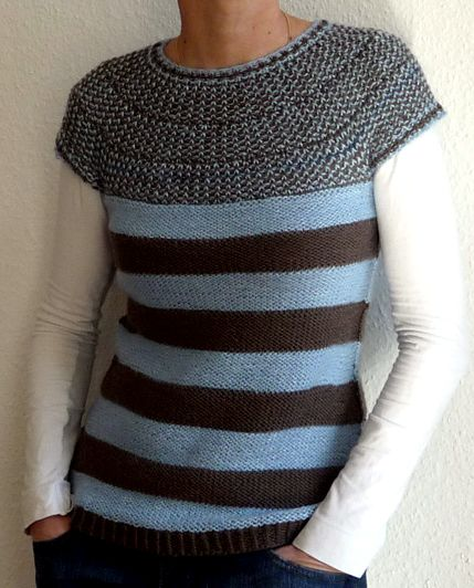 0a6d7ac3b Free Knitting Pattern for Rotation Pullover Top - Top-down seamless ...