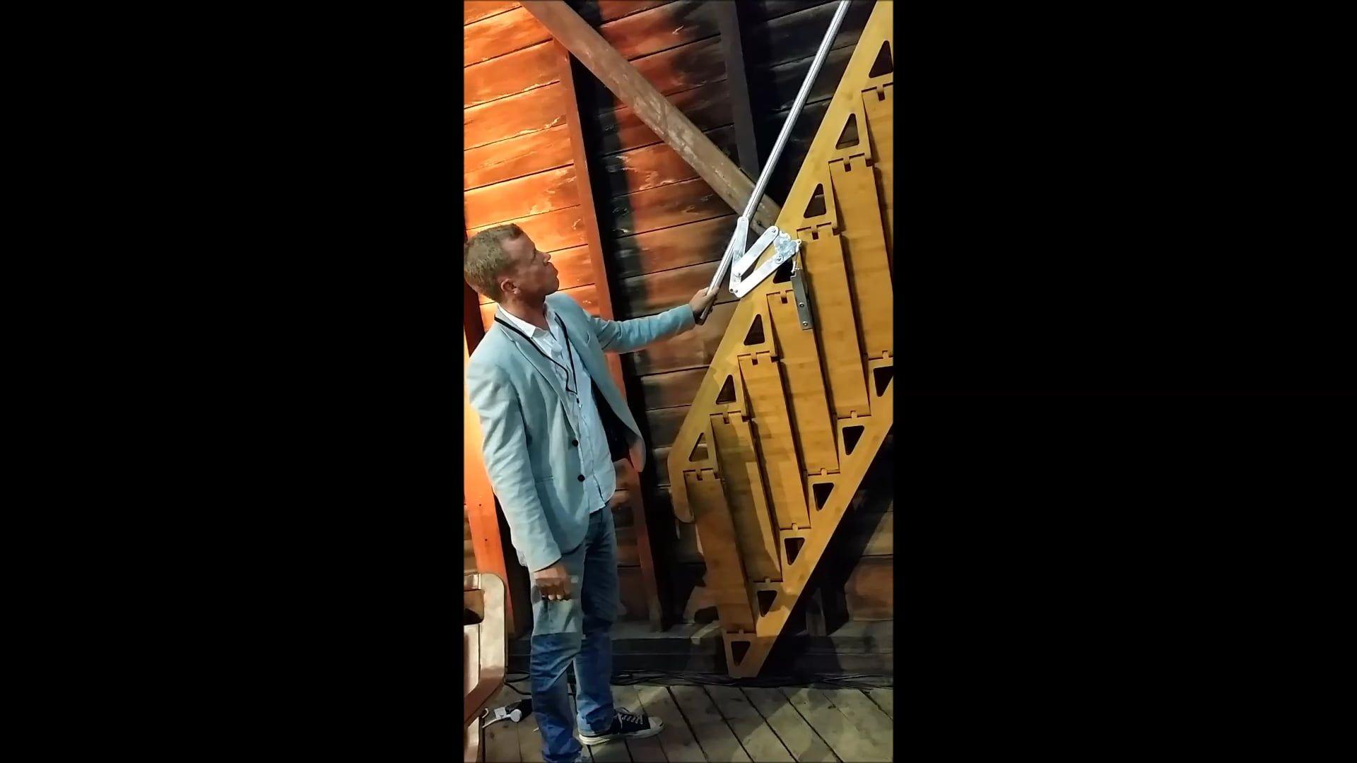Arc Video In 2019 Loft | Zev Bianchi Folding Stairs