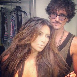 Kim Kardashian (new hair0look)
