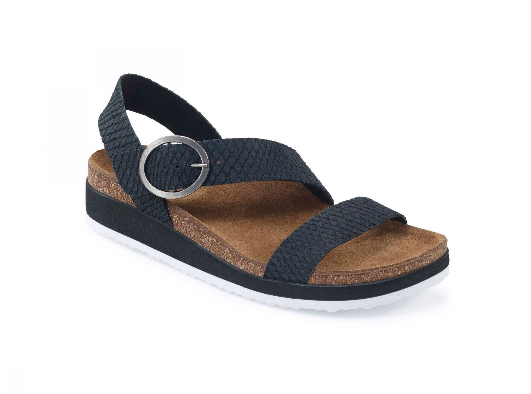 592f824e626 Aetrex Womens - Adrianna Black - Comfortable Suede Sandal - Aetrex  Worldwide Orthotic Comfort Shoes