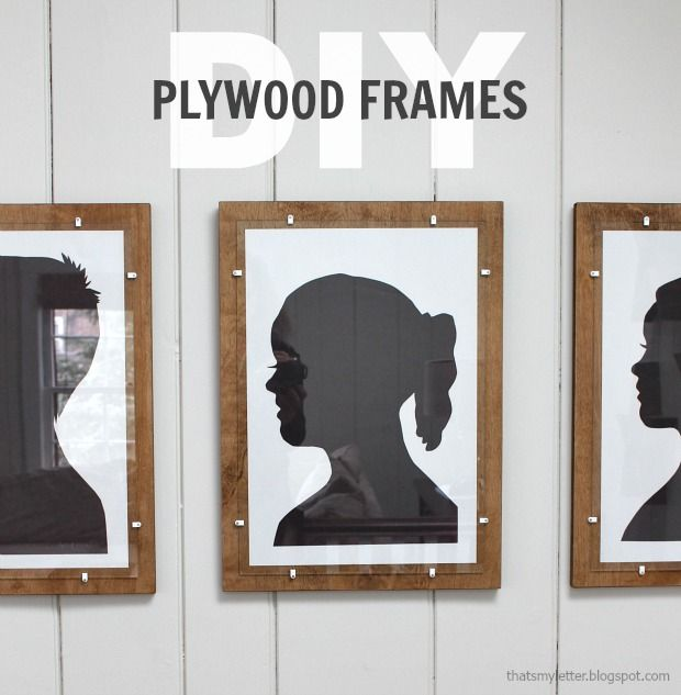 diy plywood frame with glass - Diy Picture Framing