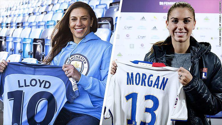 Carli Lloyd And Alex Morgan Head Overseas Amid Us Fight For Equal