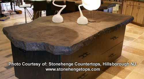 Concrete Edge Form Liner 4 Rough Rock Concrete Countertop