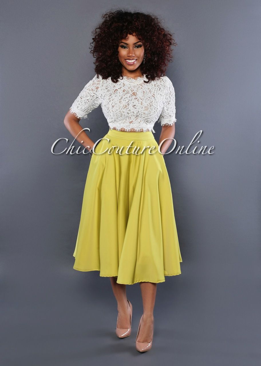 Chic Couture Online - Giti Lime Green Flare Skirt, (http://www.chiccoutureonline.com/giti-lime-green-flare-skirt/)