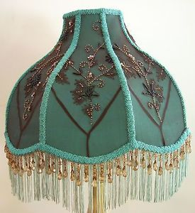 Victorian lamp fringe victorian lamp shade turquoise w sheer brown victorian lamp fringe victorian lamp shade turquoise w sheer aloadofball Gallery