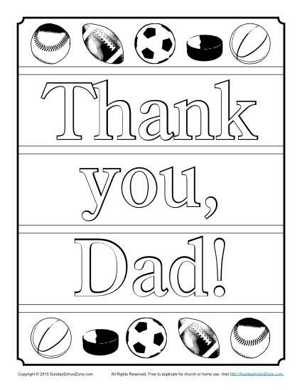 thank you dad coloring page father s day activities pinterest