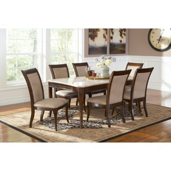 Braylen 7 Piece Dining Set Costco 1 649 99 Dining Room Sets Dinning Room Decor 7 Piece Dining Set