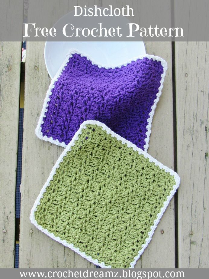 Free Crochet Dishcloth Pattern | DIY... | Pinterest | Ganchillo y Hogar