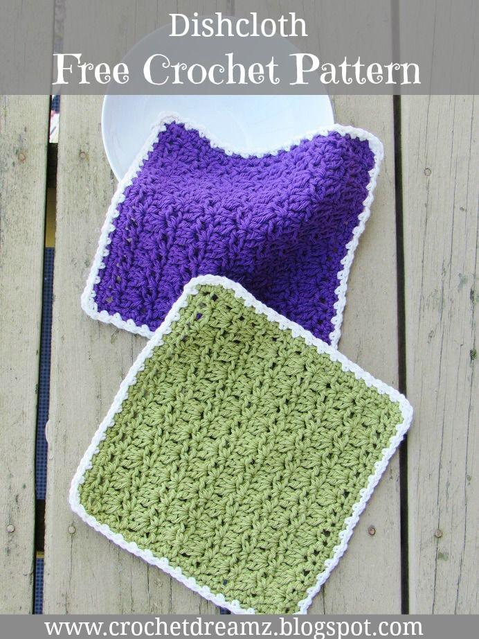 Free Crochet Dishcloth Pattern | Crochet Tutorial | Pinterest ...