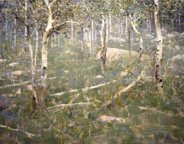 Richard Schmid Aspen Grove Oil 22x28 Drawnnpainted