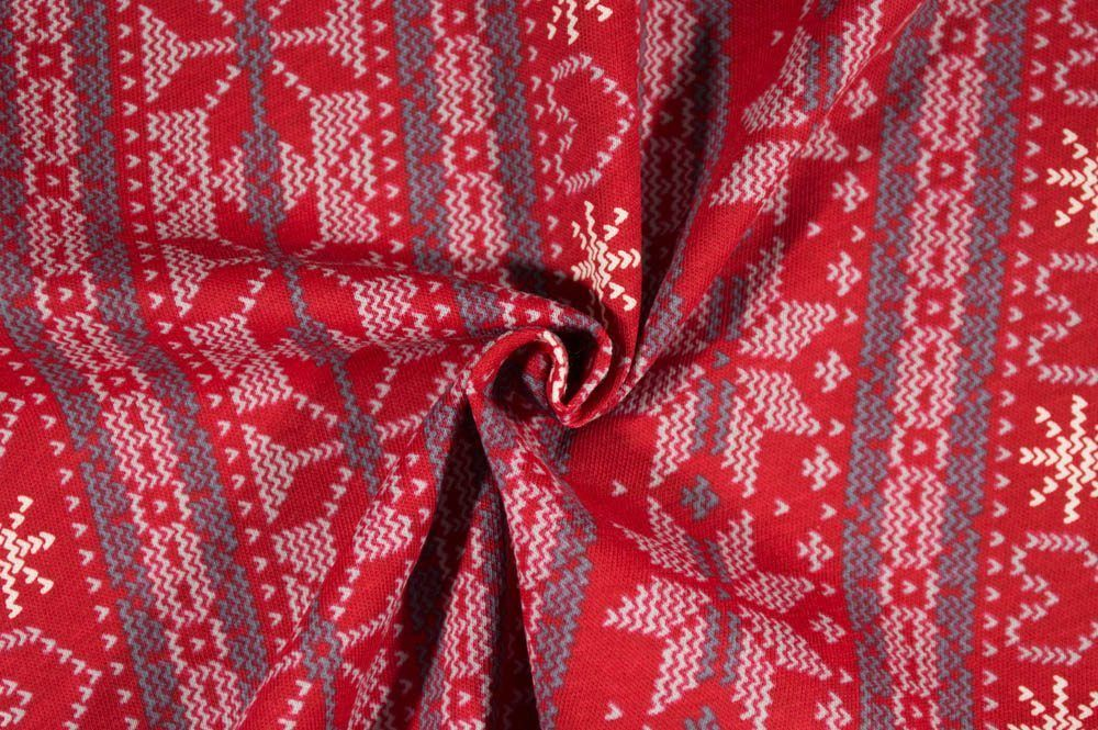 Christmas Cotton Jersey - Fair Isle   Fabric addiction   Pinterest