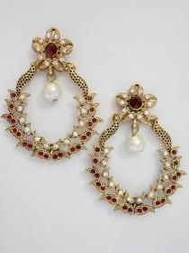 The very latest and exclusive pair of Polki earrings, crafted and desinged beautifully with high quality Polki, CZ and LCT stones.