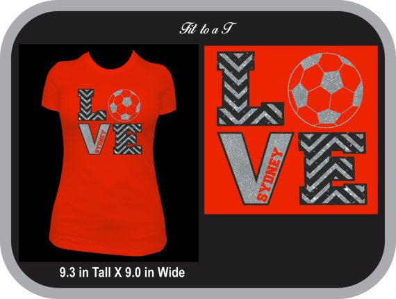 Glitter Love Soccer T-Shirt