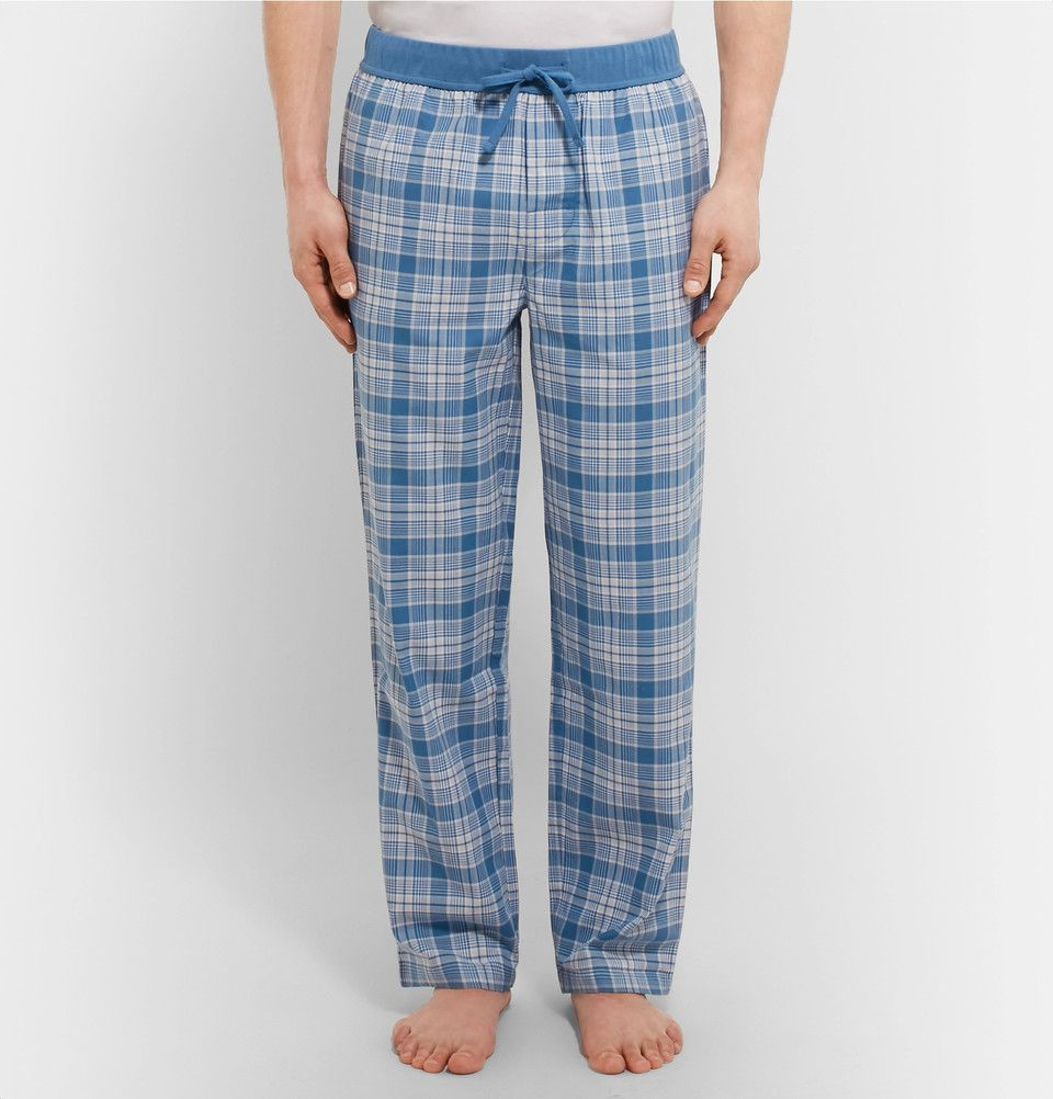 96587a1d Hugo Boss - Checked Brushed Cotton-Twill Pyjama Trousers | emprime ...